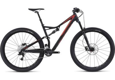 SPECIALIZED Stumpjumper FSR Comp 29er satin black-rocket red 2016