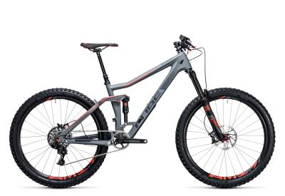 CUBE Stereo 160 C:62 SL 27.5 grey 'n flashred 2017