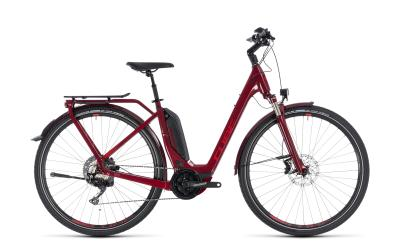 CUBE Touring Hybrid EXC 500 Easy Entry darkred 'n' red 2018