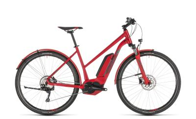 CUBE Cross Hybrid Pro 500 Allroad red 'n' grey Trapeze 2019