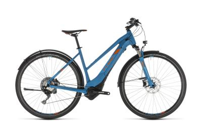 CUBE Cross Hybrid Race 500 Allroad blue 'n' orange Trapeze 2019
