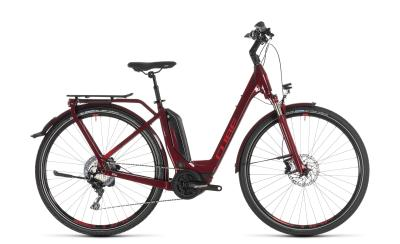 CUBE Touring Hybrid EXC 500 darkred 'n' red Easy Entry 2019