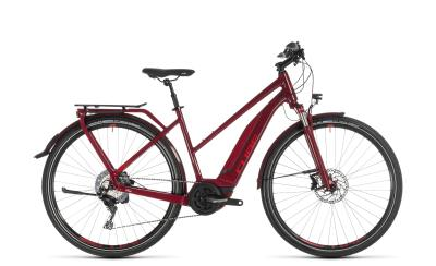 CUBE Touring Hybrid EXC 500 darkred 'n' red Trapeze 2019