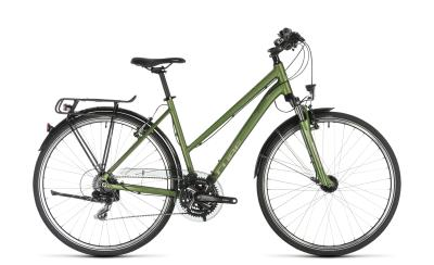 CUBE Touring green 'n' silver Trapeze 2019