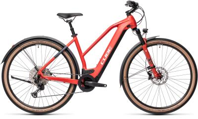 CUBE Cross Hybrid Race 625 Allroad red 'n' grey Trapeze 2021