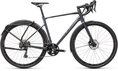 CUBE Nuroad Race FE grey 'n' black 2021